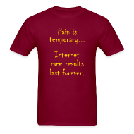 T-Shirts ~ Men's T-Shirt ~ MENS RUNNING T SHIRT - PAIN IS TEMPORARY
