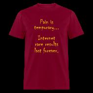 T-Shirts ~ Men's T-Shirt ~ MENS RUNNING T SHIRT - PAIN IS TEMPORARY