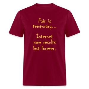MENS RUNNING T SHIRT - PAIN IS TEMPORARY - Men's T-Shirt