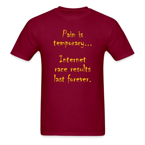 MENS RUNNING T SHIRT - PAIN IS TEMPORARY - Men's T-Shirt