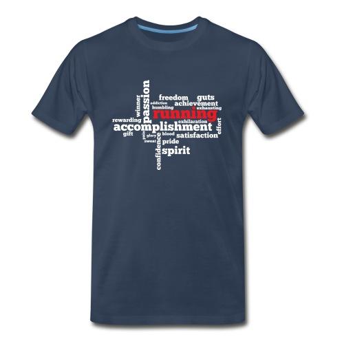 MENS RUNNING T SHIRT - RUNNING WORD CLOUD - Men's Premium T-Shirt