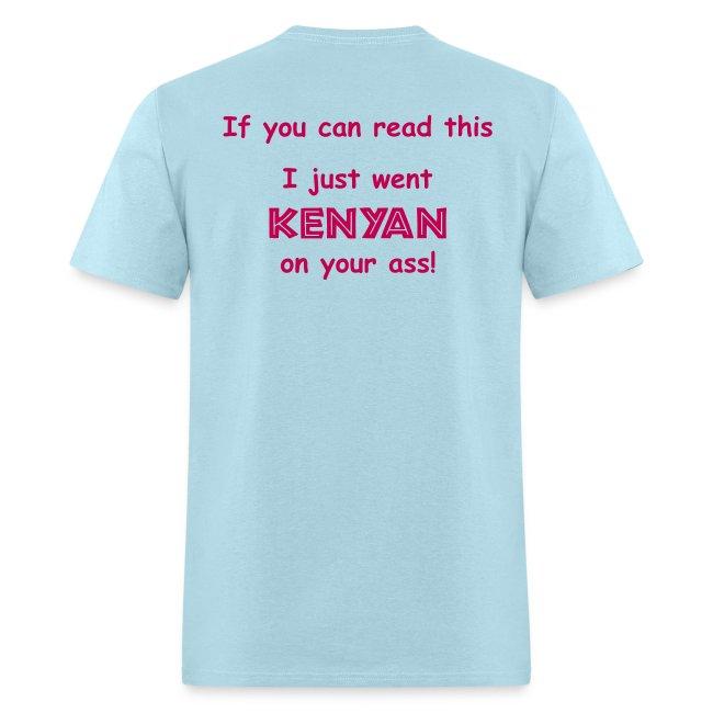 MENS RUNNING T SHIRT - JUST WENT KENYAN