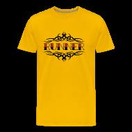 T-Shirts ~ Men's Premium T-Shirt ~ MENS RUNNING T SHIRT - TRIBAL RUNNER