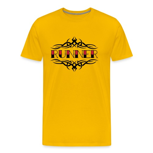 MENS RUNNING T SHIRT - TRIBAL RUNNER - Men's Premium T-Shirt
