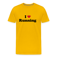 T-Shirts ~ Men's Premium T-Shirt ~ MENS RUNNING T SHIRT - I HEART RUNNING