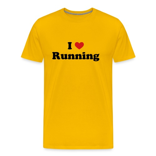 MENS RUNNING T SHIRT - I HEART RUNNING - Men's Premium T-Shirt