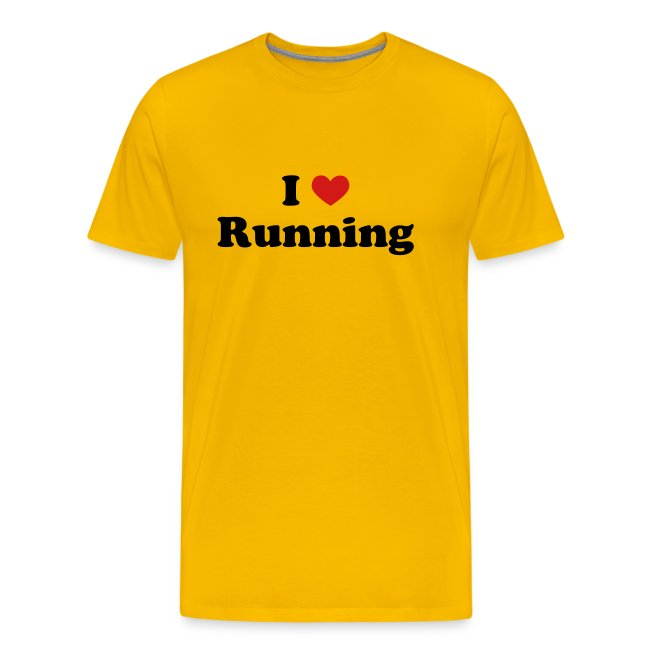 MENS RUNNING T SHIRT - I HEART RUNNING