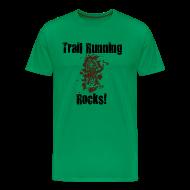 T-Shirts ~ Men's Premium T-Shirt ~ MENS RUNNING T SHIRT - TRAIL RUNNING ROCKS