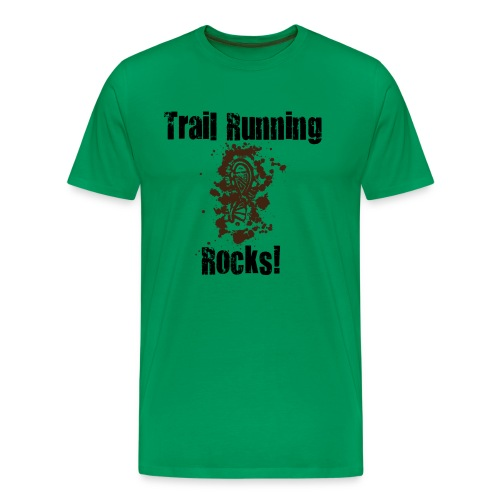 MENS RUNNING T SHIRT - TRAIL RUNNING ROCKS - Men's Premium T-Shirt