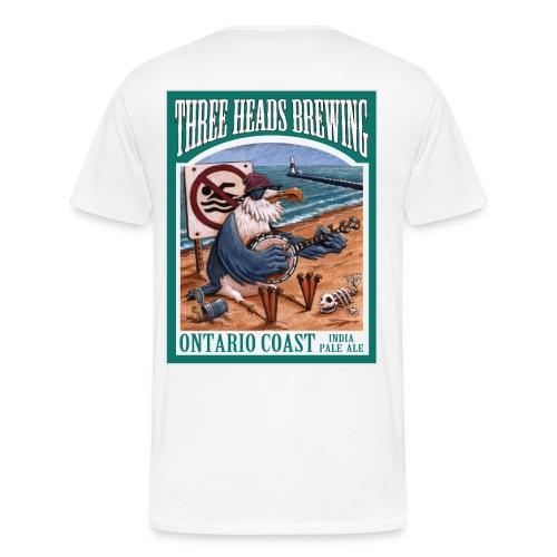 Ontario Coast - Black Logo (Big Sizes) - Men's Premium T-Shirt