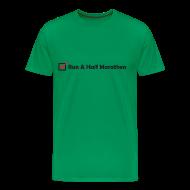 T-Shirts ~ Men's Premium T-Shirt ~ MENS RUNNING T SHIRT - RUN HALF MARATHON CHECK