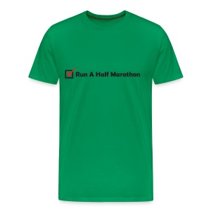 MENS RUNNING T SHIRT - RUN HALF MARATHON CHECK - Men's Premium T-Shirt