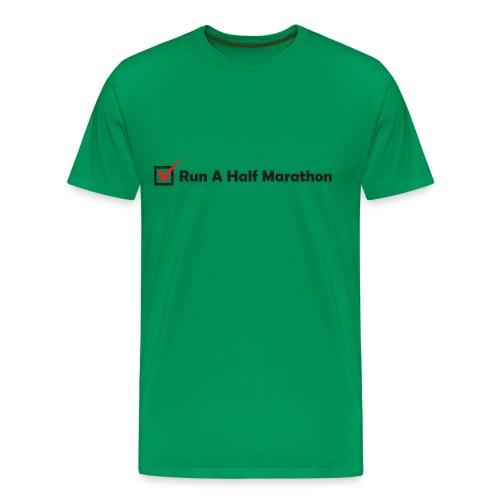 MENS RUNNING T SHIRT - RUN HALF MARATHON CHECK - Men's Premium T-Shirt