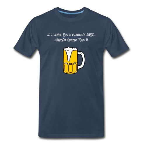 MENS RUNNING T SHIRT - BEER PLAN B - Men's Premium T-Shirt
