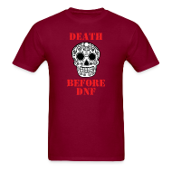 T-Shirts ~ Men's T-Shirt ~ MENS RUNNING T SHIRT - DEATH BEFORE DNF
