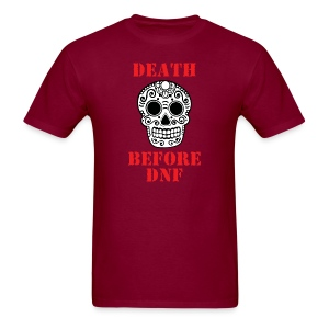 MENS RUNNING T SHIRT - DEATH BEFORE DNF - Men's T-Shirt
