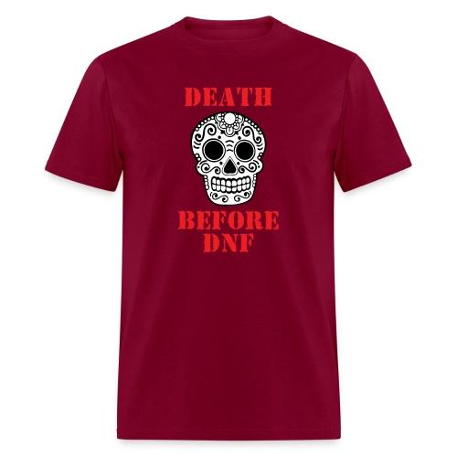 MENS RUNNING T SHIRT - DEATH BEFORE DNF - Men's T-Shirt