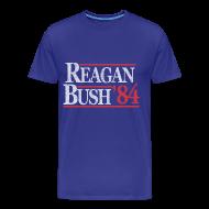 T-Shirts ~ Men's Premium T-Shirt ~ Reagan Bush 1984 T-Shirt