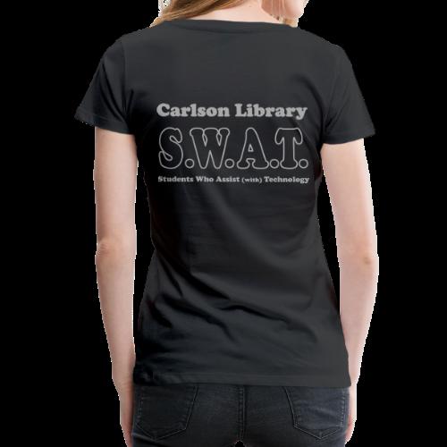 Women's Premium T- Silver Glitz T  SWAT w/name - Women's Premium T-Shirt