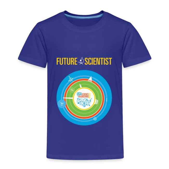 Toddler Future Scientist T-shirt (Front Design Only)