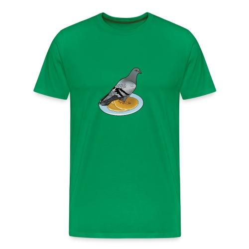 Pigeon on a pancake. - Men's Premium T-Shirt