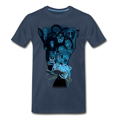 Mr. Creepypasta Shirt (Blue) - Men's Premium T-Shirt