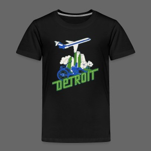 Vintage Detroit Airline Poster - Toddler Premium T-Shirt