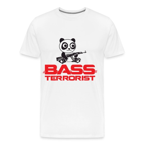 Bass Terrorist Original Logo Edition - Men's Premium T-Shirt