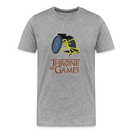 Throne of Games Wheelchair - Men's Premium T-Shirt