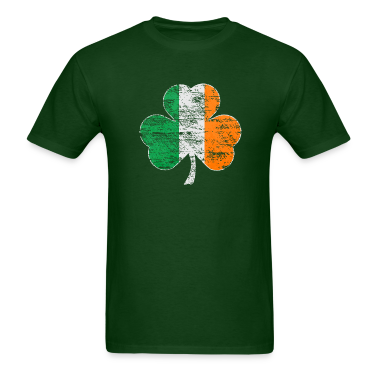 Vintage Irish Flag Shamrock Mens Heavyweight Shirt