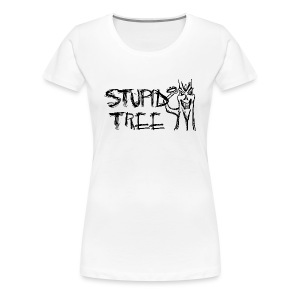 Stupid Tree Disc Golf Shirt - Women's Fitted Tee - Black Print - Women's Premium T-Shirt