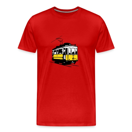 t-shirt - historical tram - Men's Premium T-Shirt