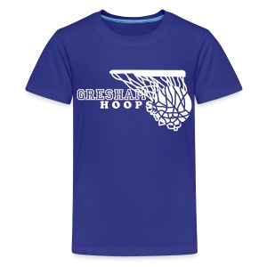 Kid's Gresham Hoops with Net tee - Kids' Premium T-Shirt