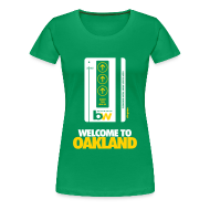 Women's T-Shirts ~ Women's Premium T-Shirt ~ Welcome to Oakland - Women's Fitted Tee