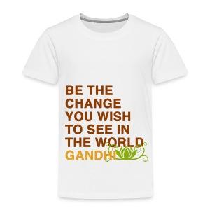 dachile kids' Be the Change Tee - Toddler Premium T-Shirt