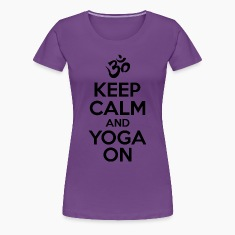 keep Calm Yoga On Women's T-Shirts