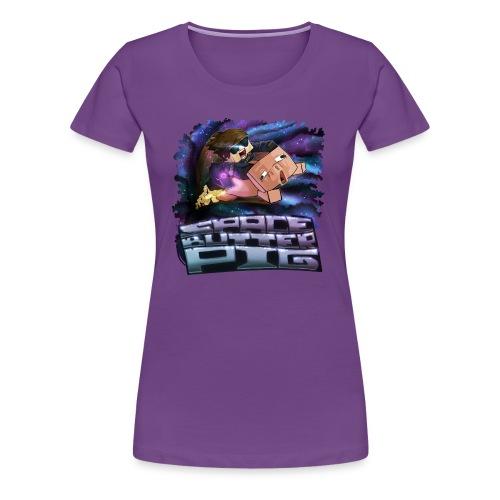 Ladies T Shirt: SPACE BUTTER PIG! - Women's Premium T-Shirt