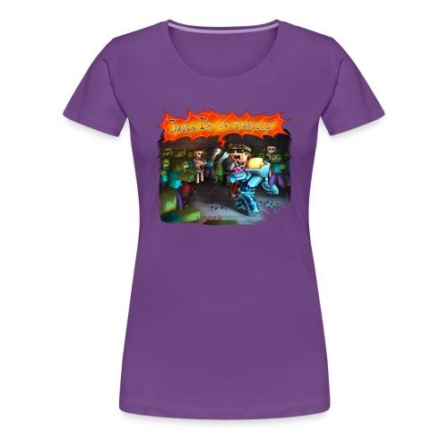 Ladies T Shirt: STARTLED! - Women's Premium T-Shirt
