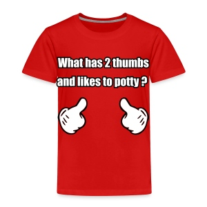 2Thumbs-Potty  - Toddler Premium T-Shirt