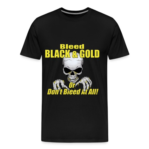 Bleed Black and Gold - Men's Premium T-Shirt