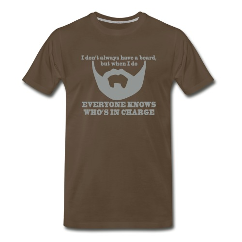 BEARD IN CHARGE T-Shirt - Men's Premium T-Shirt