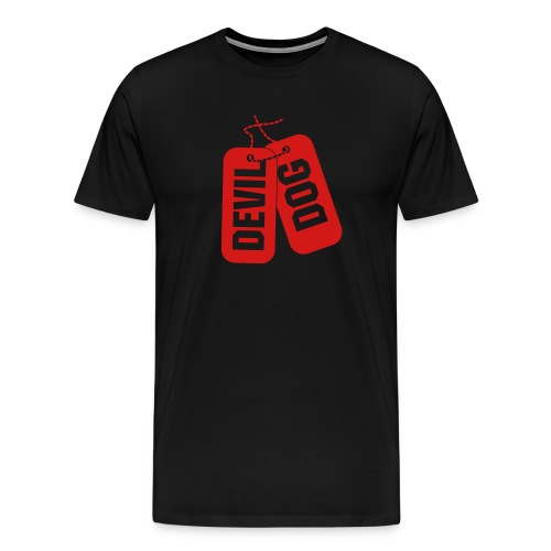 Devil DogTag Tshirt - Men's Premium T-Shirt