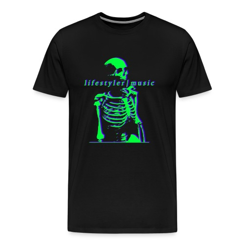 skeleton neon - Men's Premium T-Shirt