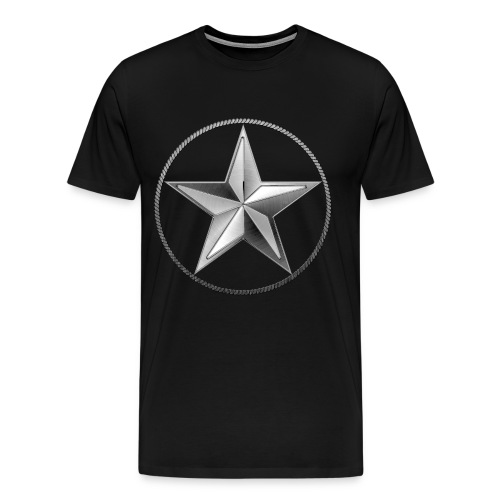 Silver Lone Star - Men's Premium T-Shirt
