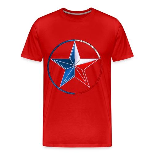 Red White & Blue Texas Lone Star - Men's Premium T-Shirt