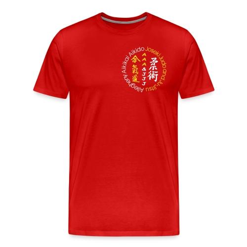Men's standard weight t-shirt 3XL & 4XL white/gold logo and white/gold artwork - Men's Premium T-Shirt
