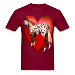 Appy Valentine's-Big hearted - Men's T-Shirt