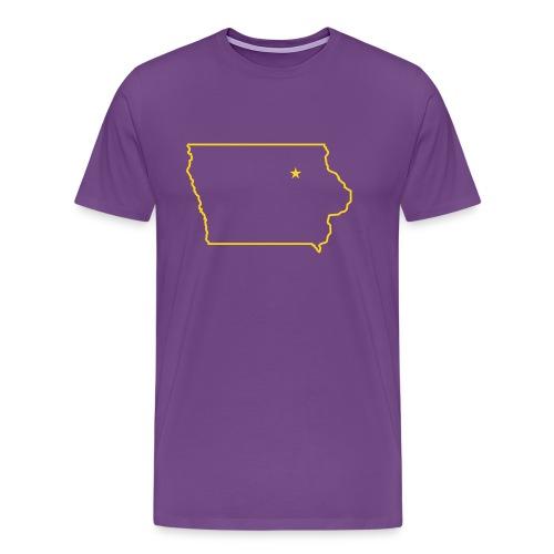 STATE OF IOWA - CEDAR FALLS CAPITAL T Shirt - Men's Premium T-Shirt