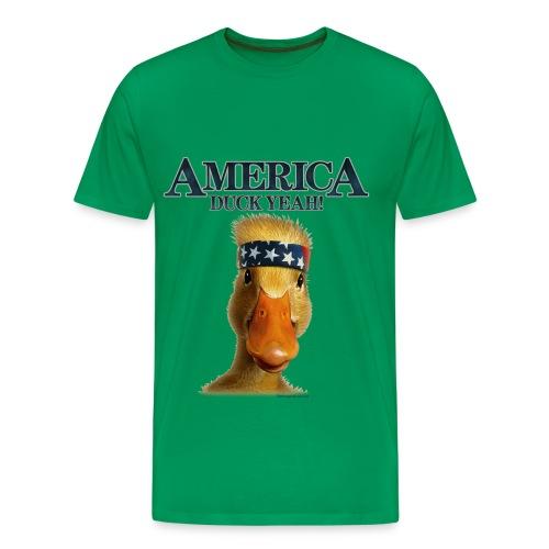 America Duck Yea!!! (Duck Dynasty) - Men's Premium T-Shirt