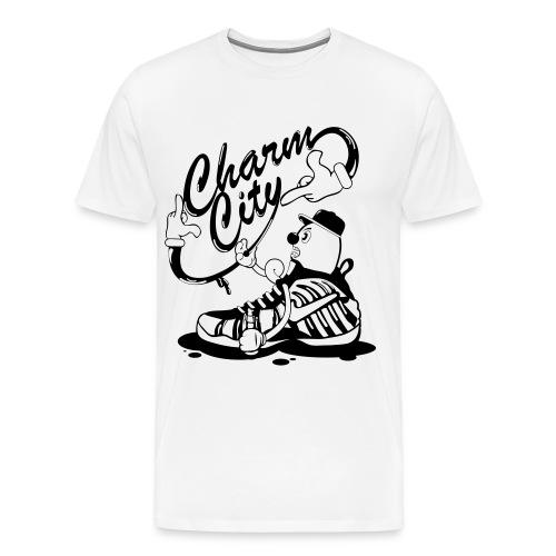 Charm City Foam Sneaker Character Tshirt - Men's Premium T-Shirt